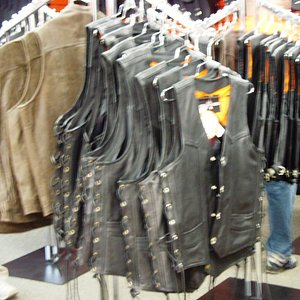 Lots of leather apparel