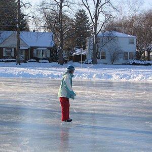 Iceskating in Erb Park