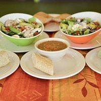 Soups salads and wraps at Bagel Du Jour