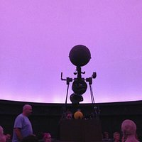 Inside the planetarium with dawn breaking
