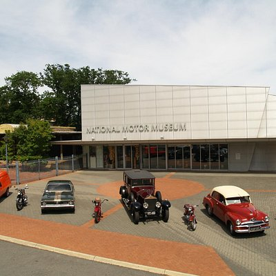 Forecourt at the National Motor Museum