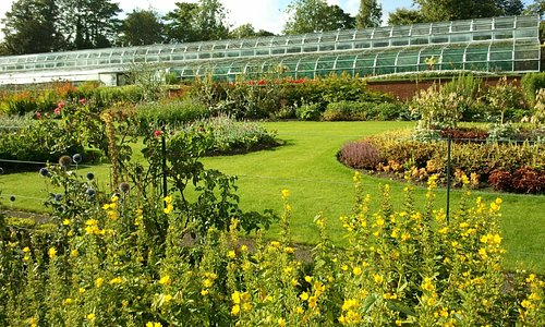 Formal gardens and greenhouses