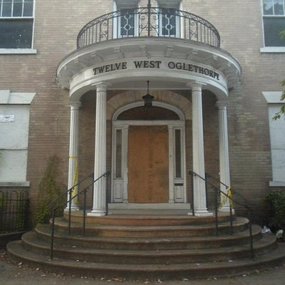 12 West Oglethorpe Ave. The first stop on the tour and one of the most haunted in Savannah!