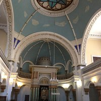 Beautiful dome of the Choral synagogue in Vilnius