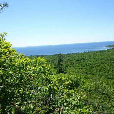 View from top of Lookout Trail, Pancake Bay Prov. Park