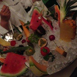 La presentazione della frutta!