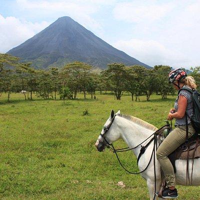 Horseback Riding to the Volcano