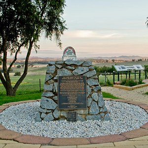 The memorial cairn at the Cowra P.O.W Camp