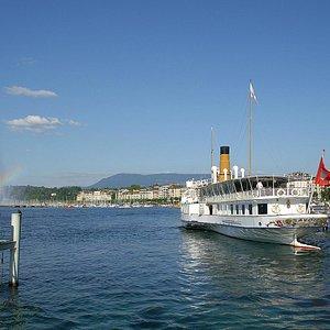 Une vue incomparable sur le Jet d'eau de Genève !