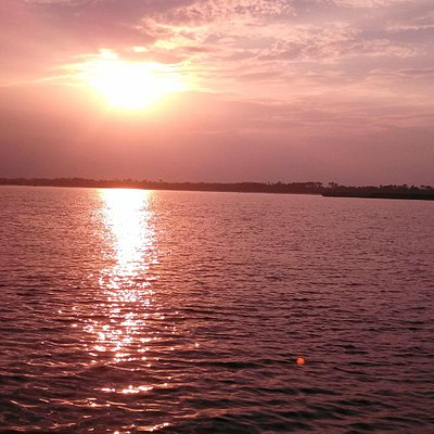 Sunset while on Premier Dolphin Cruise