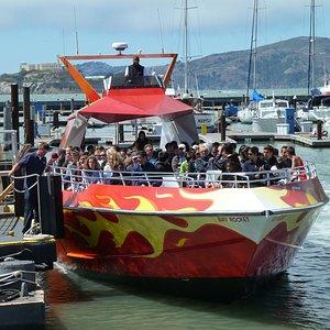 Rocket Boat Just Arriving