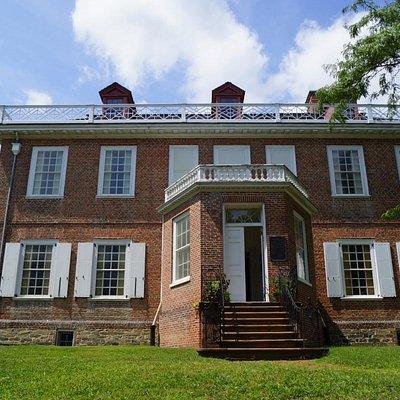 Schuyler Mansion entrance