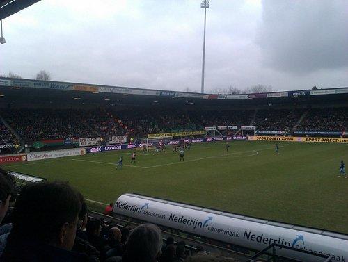 Overview of the pitch of de Goffert Stadium