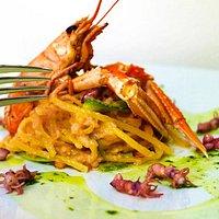Spaghetti agli scampi! Yum :)