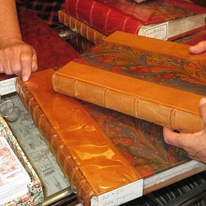 Incredible book with a leather painted cover