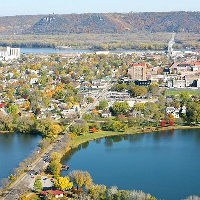 Winona's East and West lakes are divided by Huff Street