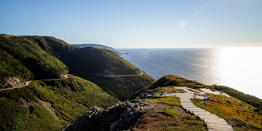 View of the Cabot Trail from Skyline Trail