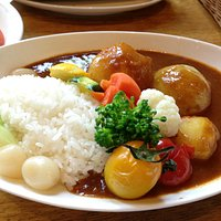Biei vegetable curry rice - very good!