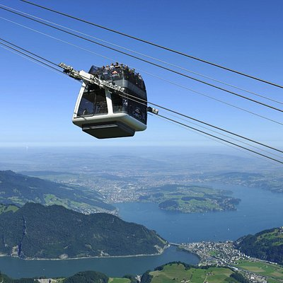 CabriO Lucerne, Switzerland - the world's only cablecar with open sundeck.