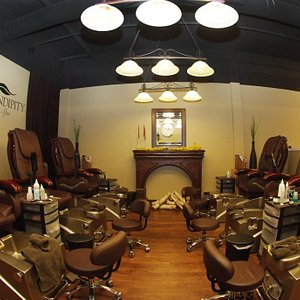 Serendipity Frankenmuth offers 6 relaxing Whirlpool Jetted Shiatsu Massage Pedicure Thrones