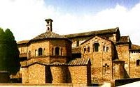 Il Battistero e la Basilica di Santa Maria Maggiore.