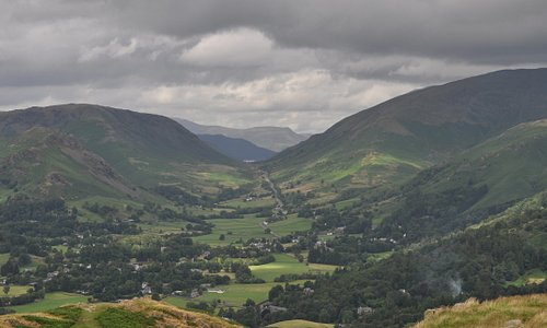 Looking north past Grasmere towards Dunmail raise