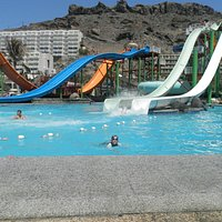 view of the bigger slides from our loungers