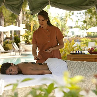 Outdoor massages available in a cabana
