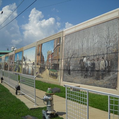 close up of some of the murals