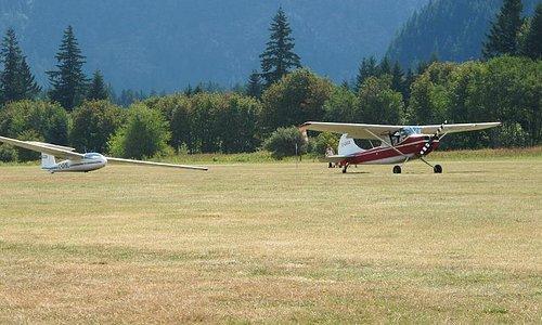 Hope Air Port glider & tow plane
