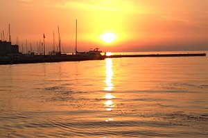 Molo al tramonto