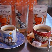 Chat  c'est les cafés :)
