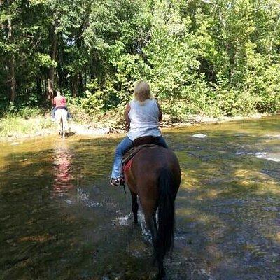 trough the creek