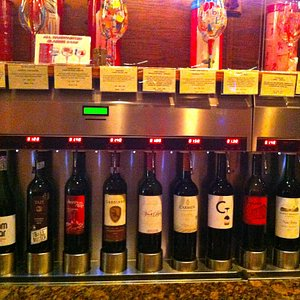 Just a small sample of the large selection of wines