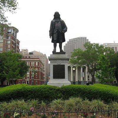 Ben Franklin statue at Lafayette Square, New Orleans, LA