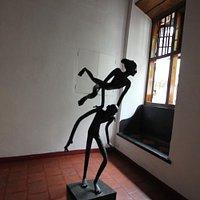 Inside art gallery