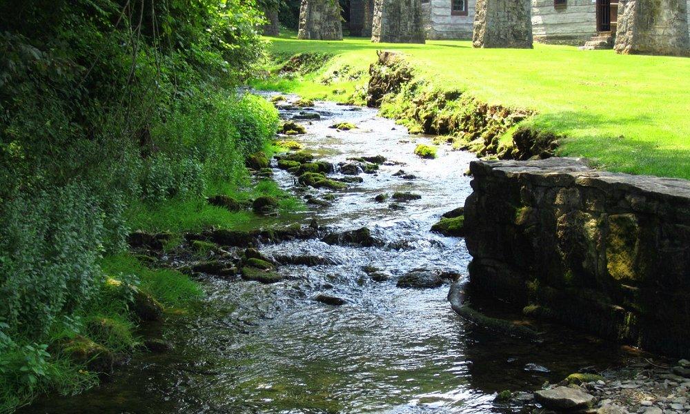 Creek running through Pioneer Village