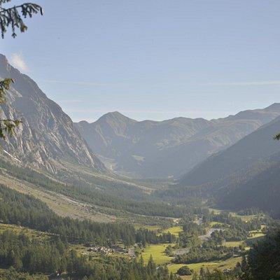 La Val Ferret al mattino dal sentiero per il rif. Bertone