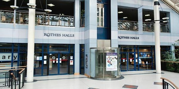Rothes Halls entrance in Kingdom Shopping Centre