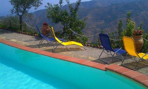 Panorama visibile dalla prospettiva della piscina