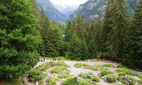 Lo splendido giardino e la vista sul Monte Rosa