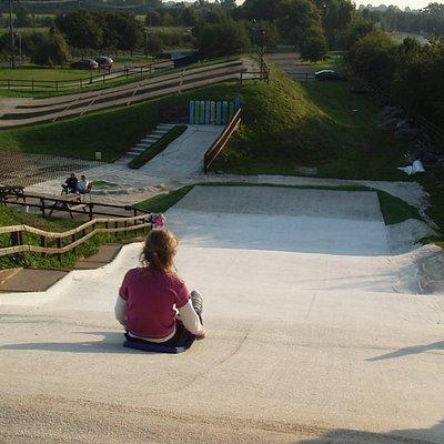 Tobooggan slope
