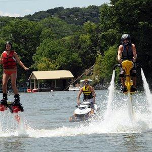 Flyboard and Jetovator fun on scenic Lake Austin