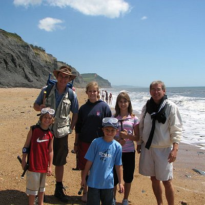 Chris Pamplin with family on a walk