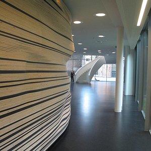 Hallway to giftshop behind ticket area