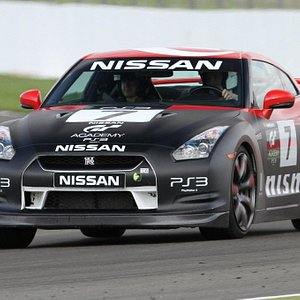 Nissan GTR at Silverstone race track