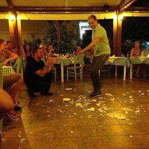En härlig kväll på Restaurang Mama Mia i Nidri ( Lefkas) .
