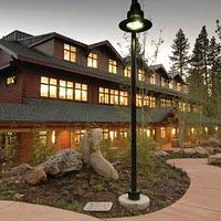 """Inside the building """"Tahoe Center for Environmental Sciences"""" on the Sierra Nevada College campu"""