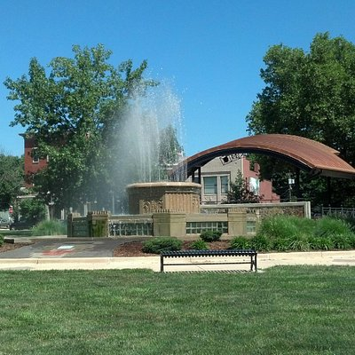 Full View of the Fountain and Amphitheater