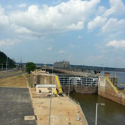 view of the lock and dam